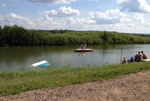 USA Nationals 2014 / USA Barefoot Waterski National Championships. Blue Moo Lake, Alma Center, Wisconsin