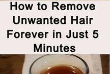 unwanted hair