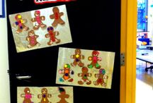 Winter classroom door ideas
