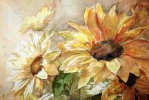 Bloemen, teken en schilder / Bloemen en andere natuur
