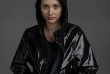 hoods,scarves, coats, hats / female beauty and fashion