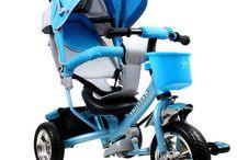 Children Trike Kids Tricycle 3 Wheel Bike Toddler Childs Boys Blue Baby Pushing
