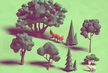 low poly & world