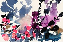 Botanical and Garden Shapes - Inspiration / Paintings based on simple shapes