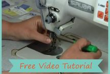 """Sewing Tutorials / Did you learn to sew the home sewing way?  Wonder why you never get the """"shop purchased"""" look?  Learn the fashion industry way for professional results and the easy, fast way to construct garments"""