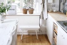 Shabby Swedish /French country kitchen♡