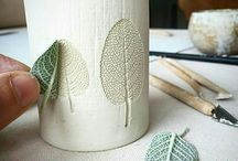 Using leaves - surface decoration