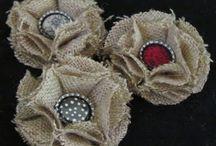 textilní květy