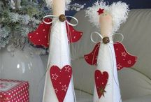 christmas fabric dolls