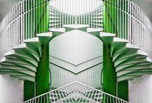 Refurbishing Art Deco stair case / Oak trellis and rails and proper carpet runnet