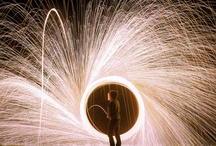 Light picture photography steel wool