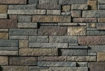 Drystack Ledgestone: Cultured Stone® by Boral® / The texture and variation of Drystack Ledgestone capture both light and shadow. Individual stones come in carefully-selected, pre-shaped incremental sizes to accommodate tight-fitted installation. Its rustic color palette blends well with contemporary roofing and wall finishes.