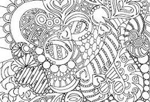 coloring for adults /  generates wellness, quietness and also stimulates brain areas related to motor skills, the senses and creativity. / by Rho Marc