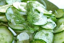 Cucumbers / Baggy eyes, lots of stress, stinky breath?  The Amazing Cucumber cures all!  And they're pretty tasty too!