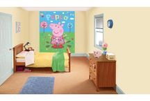 Peppa Bedroom / Inspiration and products to make your little Peppa fans' bedrooms fun and relaxing when it comes to sleep time!