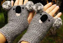 Pour les mains (enfants et adultes).  / Mitaines, gants mais aussi pour les chevilles ....