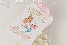Mermaid Party Collection / Everything you need to celebrate your Little Mermaid! Visit: www.LoraleeLewis.com to purchase  Direct Link: http://www.loraleelewis.com/store/pc/Mermaid-Collection-c2159.htm