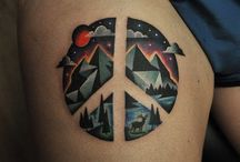 Peace symbol as a tattoo