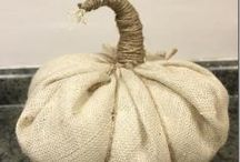 things to make with burlap / by Marcia Gustafson