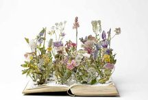 Wild flower altered book