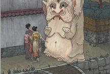 o-bake, yurei & yokai / japońskie duchy i straszydła | Japanese o-bake, yurei & yokai | Japonia | Japan