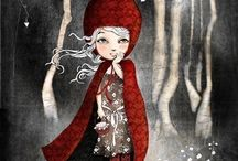 Disney Little Red Riding Hood / Little red riding hood wolf Disney pictures pic graphics picture poster graphic design illustration bright diy color drowning poster art artwork drowning dark f / by Kristina M Knecht-cuda