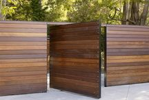Modern wooden fences and gates