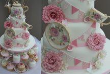 porcelaine thé cake