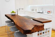 Wood Bar / Counter Tops
