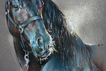 Ló festmények, rajzok