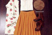conjuntos falda y blusa