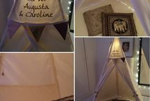 Teepees made for siblings