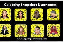 Celebrity Snapchat Usernames