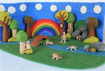 Small World Play Children's Sets / Website:  http://www.smallworldplay.com.au  Facebook:  https://www.facebook.com/Small-World-Play-928683020529603/   How our sets work 1. Stand up the background...  2. Lay down the floor mat...  3. Relax & enjoy watching your children create what ever small world they can imagine!   Made from natural sustainable resources Hand felted in Australia & Nepal under fair trade
