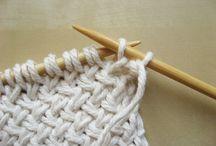 Avig och räta / Knitting
