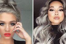 Tendência cabelos cinza.