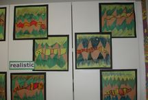 Henri Rousseau - Art projects for kids & K-8 students / Henri Rousseau - Art Elements- Taught Shape, Value, Art Activity- Emphasis Jungle Foliage and Animals, Student Art Supplies- Watercolor Crayons,brushes.