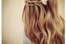 Beautiful Hair Tips / Hair styles both long and short, head bands and hair-ware, healthy hair.