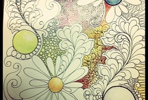 Colouring / Everything for adult colouring time - pens, books, pencils...