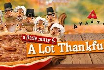 Feelin' Thankful / A little nutty and a lot Thankful! We're celebratiting GRATITUDE and using the US Mail to decorate our WALL of THANKS more details at http://www.avantipress.com/feelin-thankful