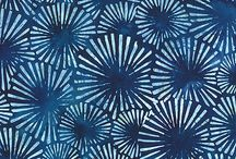 blue pattern battik flower