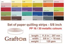 "5/8"" Paper Quilling Strips 16mm / by GraftonPl"