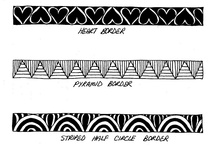 Zentangle patterns fpr X / by Michaela O'Connor
