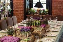 Декор стола. Встреча гостей