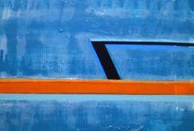 """Exhibition """"ELIZABETH SAVIANO"""" / """"Os trabalhos da artista Elizabeth Saviano reflectem equilíbrio em movimentos silenciosos. As pinturas têm natureza abstracta geométrica e brincam com a imaginação, geram inúmeras interpretações através das tonalidades e da aparente figuração da realidade"""" José Roberto Moreira, curador e galerista."""