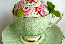 Repurposing china cup and saucer