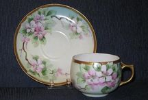 Cups and Saucers / British or Continental, delicate porcelain cups and saucers are fun to collect and decorate with, having a limitless variety of colors, shapes and designs.