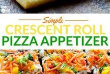 Crescent roll pizza appetizer