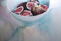 Aquarelle - Fruits