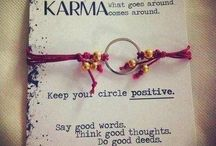Karma / What goes around comes around.... our little business survives cos we are respectful never to copy, treat our customers well and do nice things. We aren't just in it to make a quick buck!